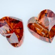 Two ruby heart — Stock Photo