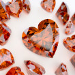 Many ruby hearts - Stock Photo