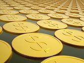 Series of gold coins — Stock Photo