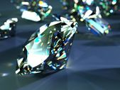 Many scattered gems — Stock Photo