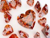 Many ruby hearts — Stock Photo