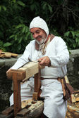 Medieval Carpenter — Stock Photo