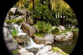 Chinese Garden Waterfall — Stock Photo