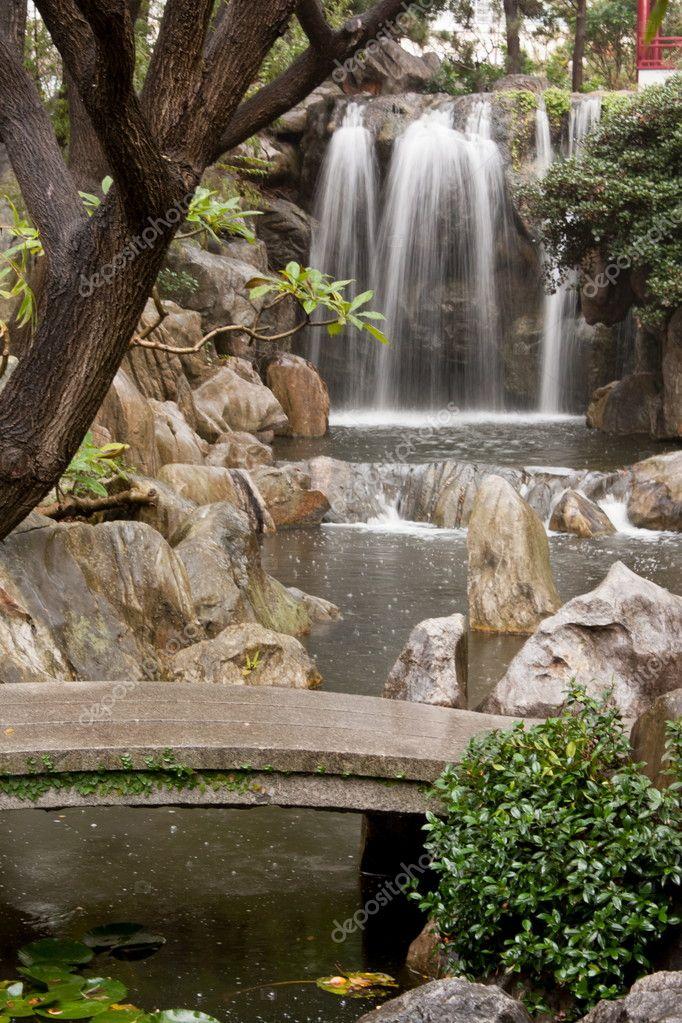 Cascada jard n chino fotos de stock tamika87 11125403 - Cascada de jardin ...