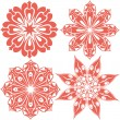 Stock Vector: Set of floral lace