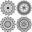 Set of mandalas and lace decorations — Stock Vector #10922384