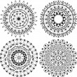 Lacy decoration in form of mandalas — Vecteur #10922423
