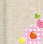 Fundo de têxteis com botões engraçados — Vetorial Stock