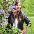 Стоковое фото: Outdoors portrait of beautiful young brunette girl