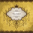 Royalty-Free Stock Imagen vectorial: Vintage frame with crown design