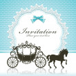 Stock Vector: Vintage Luxury carriage