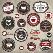 Vintage frame with coffee label template set - Stock Vector