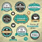 Vintage frame with food restaurant template — Stock Vector