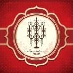 Vintage Luxury chandelier design — Stock Vector
