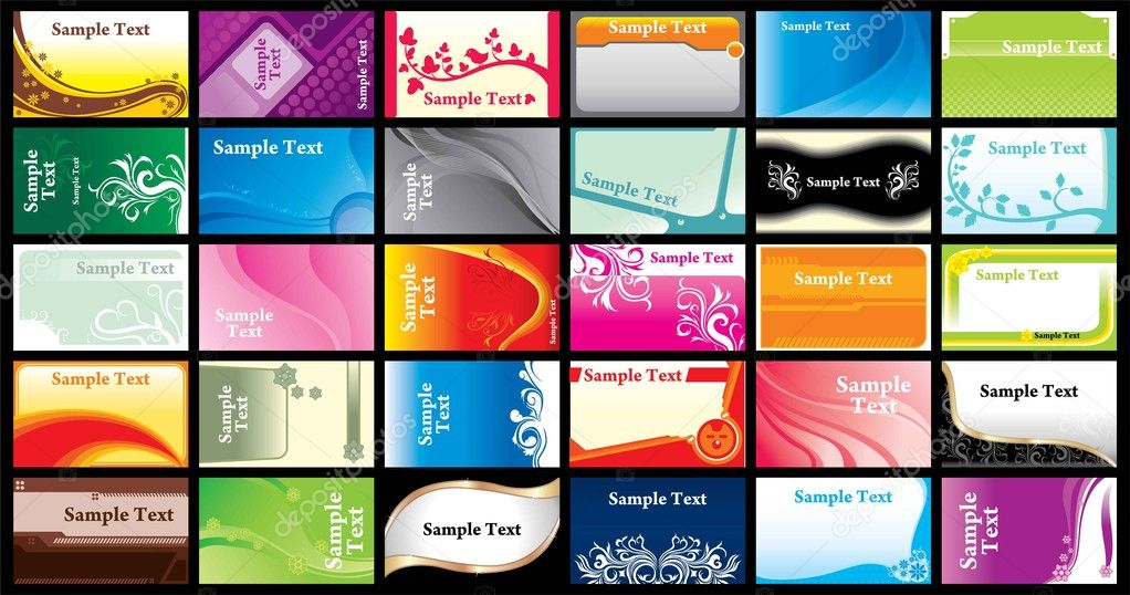 Name card template set — Stock Vector © Donnay #11548290