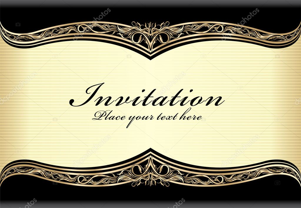 download vintage gold frame design stock illustration 11548317
