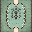 Stock Vector: Vintage chandelier frame template