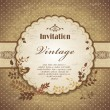 Vintage frame template with bird — Stock Vector