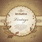 Vintage frame template with bird — Vector de stock