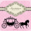 Vintage Luxury carriage design — Stock Vector