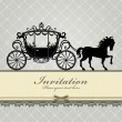 Stock Vector: Vintage Luxury carriage design
