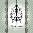 Stock Vector: Luxury chandelier background with lace