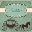 Vintage carriage frame template — Stock Vector