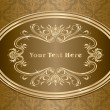 Vintage gold frame design — Stock Vector