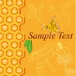 Royalty-Free Stock Vector Image: Honey background with bees