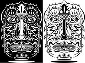Tribal african mask — Stock Vector