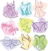 Creative woman underwear — Stock Vector