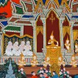 Mural Buddhist art - Foto Stock