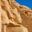 Rameses II statues — Stock Photo
