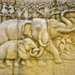 Royalty-Free Stock Photo: Stucco of elephant family