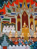 Mural Buddhist art — Stock Photo