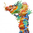 Stockfoto: Colorful dragon statue