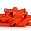 Stock Photo: Red grosgrain bow