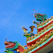 Stockfoto: Chinese roof decoration