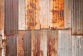 Parede de metal enferrujada — Foto Stock