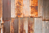 Rusty metal wall — Stock Photo