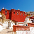 Tibetan red building - Stock Photo