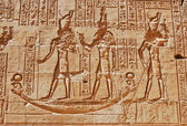 Reliefs of Egyptian hieroglyphs — Stock Photo