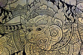 猿の古代のタイの芸術 — ストック写真