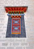 Beautiful tibetan window — Stock Photo