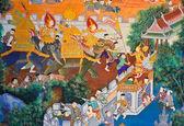 Antica murale tailandese — Foto Stock