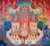 Mural Buddhist art — Stock Photo