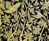 Ancient Thai floral art — Stock Photo