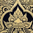 Tradition Thai style painting - Stock Photo