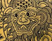 Umění thajské drak — Stock fotografie