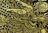 Dragon painting — Stock fotografie